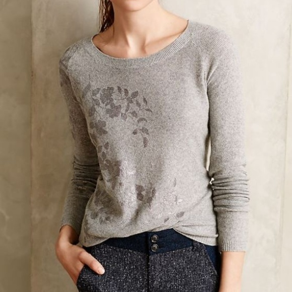 7d1fc04ceac551 Anthropologie Sweaters - Anthropologie Knitted & Knotted Foil Print Sweater